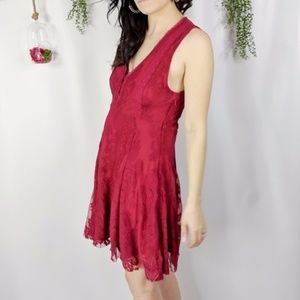 FREE PEOPLE NWOT Reign on Me lace mesh dress 0378